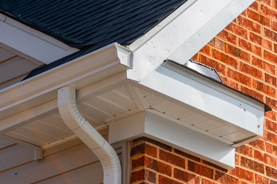 fascia and soffit of a house