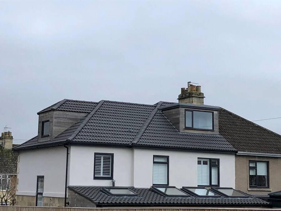 slate roof on a house