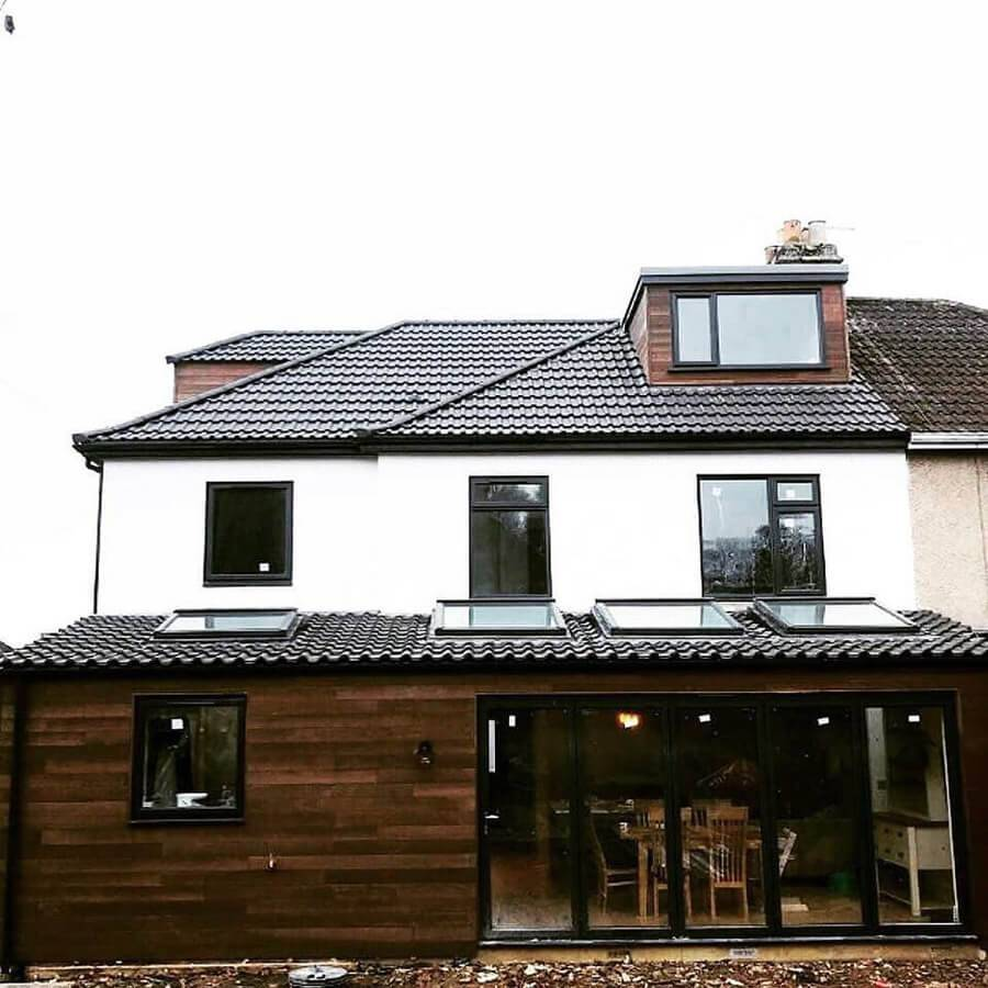 building with new roof and velux windows